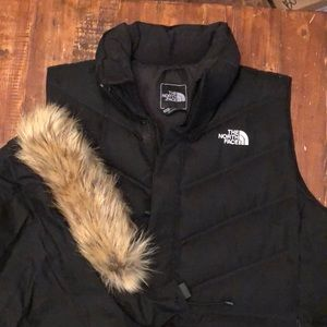 North Face Down Vest with Fur Hood